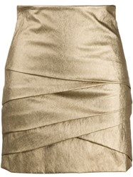 Philosophy Di Lorenzo Serafini Layered Style Metallic Skirt 60
