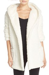 Women's Make Model 'Oh So Cozy' Hooded Cardigan Ivory Pristine