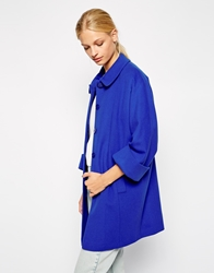 Helene Berman Covered Button Coat With Collar