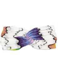 Missoni Twisted Knit Head Band White