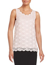 Tahari By Arthur S. Levine Vicky Lace Blouse Light Pink