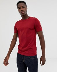 Selected Homme T Shirt In Pima Cotton Dried Tomato Red