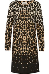 Temperley London Giraffe Print Stretch Crepe Dress