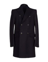 Mauro Grifoni Coats And Jackets Coats Men Dark Blue
