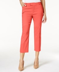 Charter Club Extended Tab Capri Pants Only At Macy's Crushed Coral