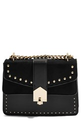 Topshop Shelby Stud Crossbody Bag Black