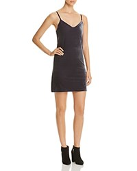 Necessary Objects Velvet Slip Dress Compare At 88 Charcoal