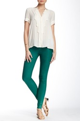 J Brand Low Rise Super Skinny Coated Pant Green
