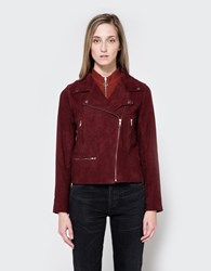 Just Female Coach Suede Jacket Oxblood
