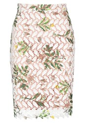 Endless Rose Guipere Pencil Skirt Off White Off White