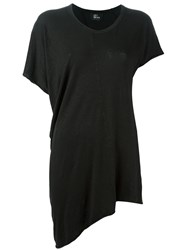Lost And Found Ria Dunn Oversized Asymmetric T Shirt Black