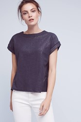 Anthropologie Lumi Tee Dark Blue
