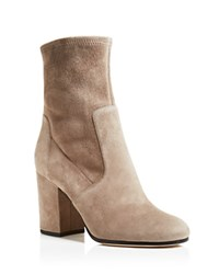 Via Spiga Benita Suede High Heel Booties Amianto Grey
