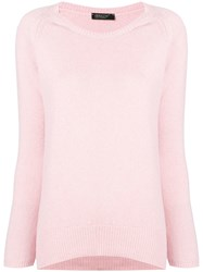 Aragona Cashmere Scoop Neck Sweater Pink
