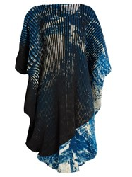Issey Miyake Earth Pleated Dress Blue Multi
