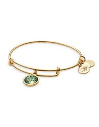 Alex And Ani August Birth Month Charm Bangle Green