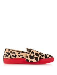 Giambattista Valli Leopard Calf Hair Skate Shoes