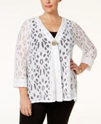 Jm Collection Plus Size Lace Jacket Only At Macy's Bright White