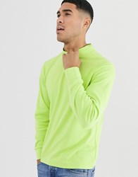 Another Influence High Neck Long Sleeve Top Green