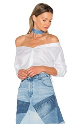 Vatanika Off Shoulder Shirt White