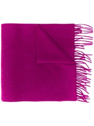 N.Peal Woven Cashmere Scarf Pink