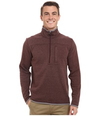 Royal Robbins Blue Ridge 1 2 Zip Merlot Men's Long Sleeve Pullover Red