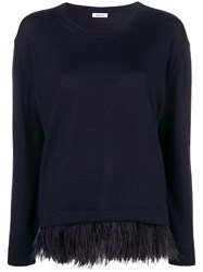 P.A.R.O.S.H. Feather Hem Sweater Blue