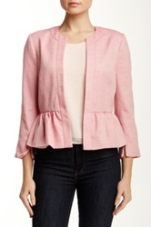 1. State Candy Tweed Cropped Blazer Pink