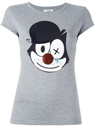 Iceberg Felix The Cat Print T Shirt Grey