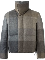 Paul Smith Checked Padded Jacket Grey