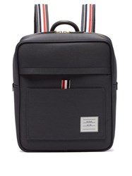 Thom Browne Book Zip Top Nylon Backpack Dark Grey