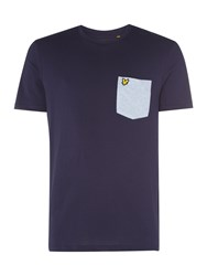 Lyle And Scott Men's Contrast Pocket T Tshirt Navy