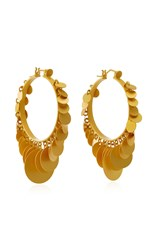 Paula Mendoza Embera Gold Plated Brass Hoop Earrings