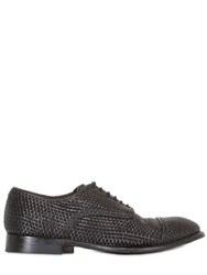 Silvano Sassetti Woven Leather Derby Shoes