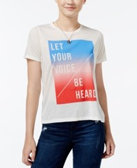 Mighty Fine Juniors' Be Heard Graphic T Shirt Linen