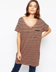 Skargorn Striped Oversized T Shirt Bricklines