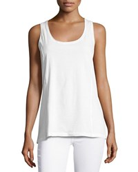Johnny Was Scoop Neck Knit Tank White