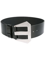 Maison Martin Margiela Geometric Buckle Belt Black