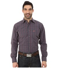 Ariat Bryant Shirt Perioscope Men's Long Sleeve Button Up Purple