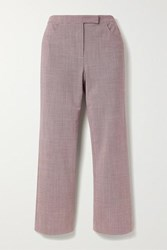 Theory Cropped Houndstooth Woven Flared Pants Us12