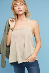 Anthropologie Savona Cross Back Tank Top Neutral