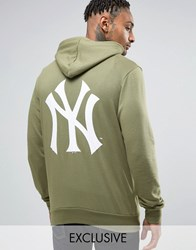 Majestic Yankees Hoodie With Back Print Exclusive To Asos Green