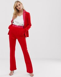 Little Mistress Flare Trousers Red
