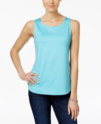 Charter Club Sleeveless Shell Only At Macy's Clear Coast