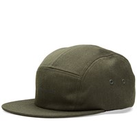 Norse Projects Loose Twill 5 Panel Cap Green