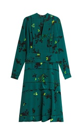 Proenza Schouler Silk Dress Green