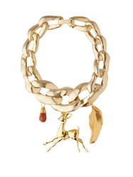 Marni Chunky Chain Link Necklace Gold