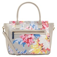 Joules Day To Day Whitstable Floral Print Handbag Grey Multi