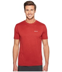 Marmot Conveyor S S Tee True Team Red Heather Men's T Shirt