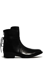 Barny Nakhle Shiny Calfskin Leather Boots Black